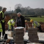 Almeley Friend, Ken Hutchinson talking to the builders